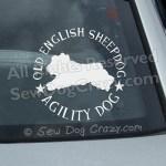 Old English Sheepdog Agility Car Window Stickers