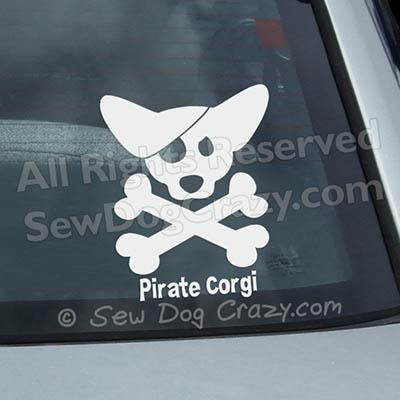 Pirate Corgi Decals