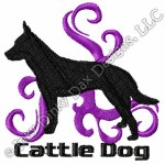 Cool Cattle Dog Embroidered Apparel