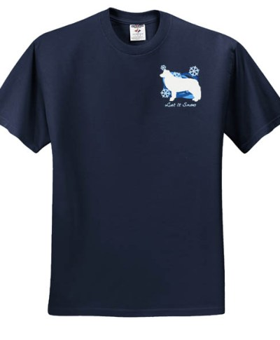 Embroidered Wintertime Border Collie TShirt