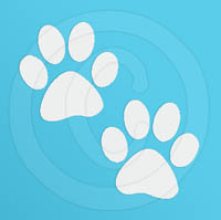 Pawprint Pair Decal