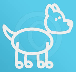 Point Eared Dog Decal
