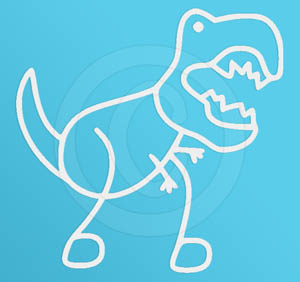 Funny T-Rex Stick Figure Decal