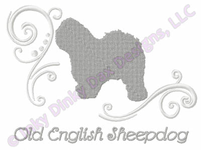 Classy Old English Sheepdog Embroidery