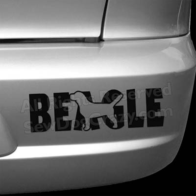Vinyl Beagle Bumper Sticker