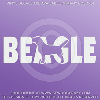 Vinyl Beagle Car Decals