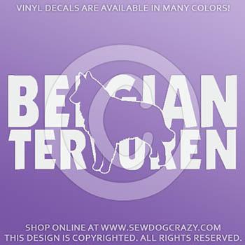 Cool Belgian Tervuren Decals