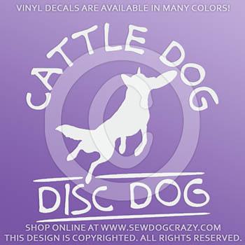 Cattle Dog Disc Car Sticker