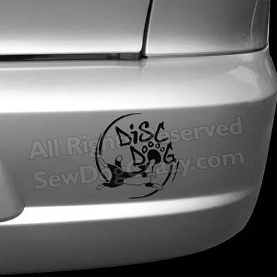 Disc Dog Car Decals