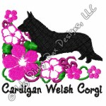 Tropical Cardigan Welsh Corgi Embroidery