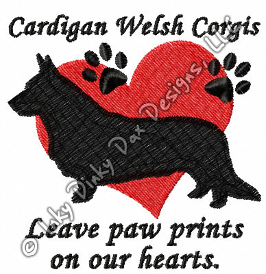Cardigan Welsh Corgi Embroidery