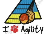 Dog Agility A-Frame Embroidery