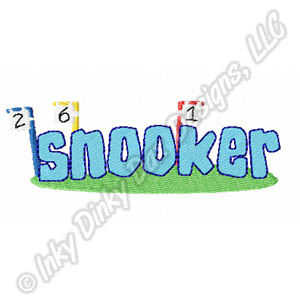 Agility Snooker Embroidery
