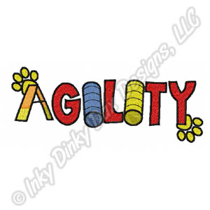 Dog Agility Embroidery