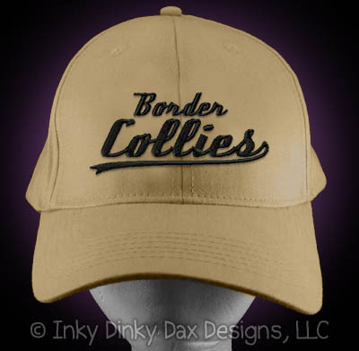 Embroidered Border Collie Baseball Hat