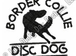 Embroidered Disc Dog Border Collie TShirt