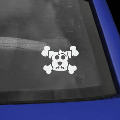 Dog Skull Vinyl Decal