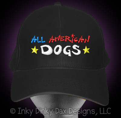 Embroidered All American Dog Hat
