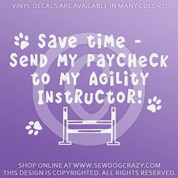 Funny Dog Agility Car Stickers