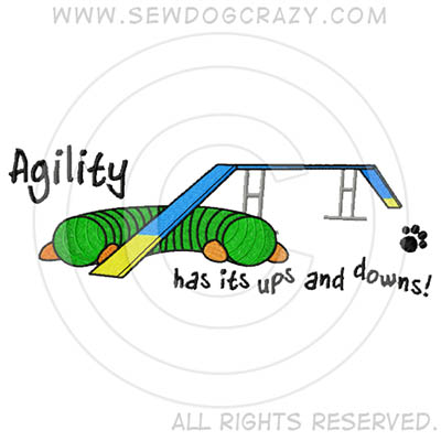 Embroidered Agility Dog Walk Shirts