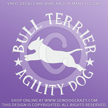 Bull Terrier Agility Decals