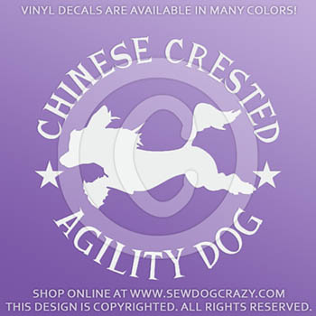 Chinese Crested Agility Decals