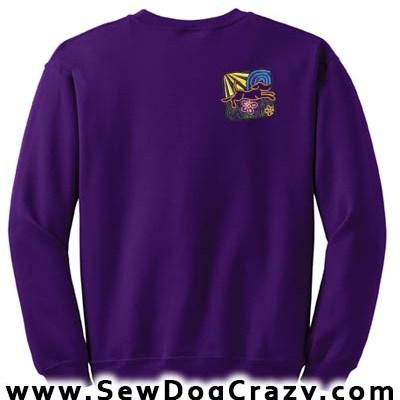 Embroidered Dog Lover Sweatshirt