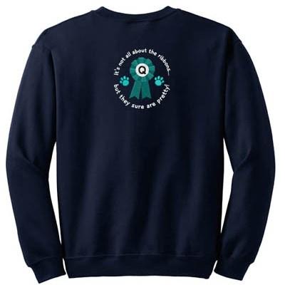 Cute Dog Agility Embroidered sweatshirt