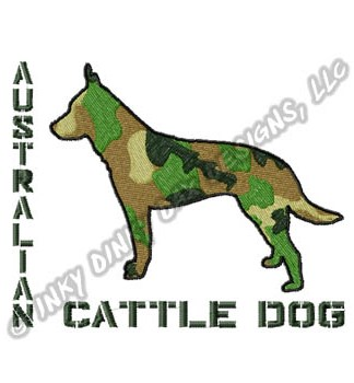 Camouflage Cattle Dog Embroidery