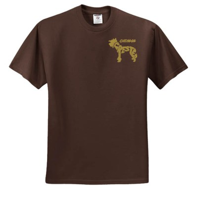 Hairless Chinese Crested Embroidered TShirt