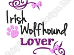 Pretty Irish Wolfhound Embroidery