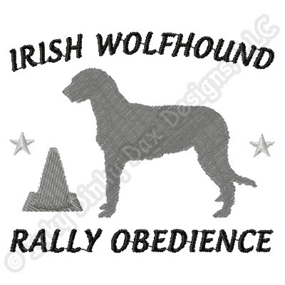 Rally Irish Wolfhound Embroidery