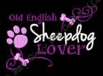 Pretty Old English Sheepdog Embroidery