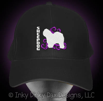 Cool Embroidered Old English Sheepdog Hat