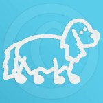 Fluffy Little Dog Stick Figure Decal