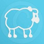 Cute Sheep Decal for Car