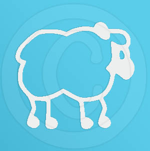 Cute Sheep Decal for Car