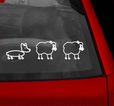Herding Sheep Decals