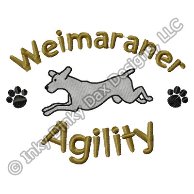 Cartoon Agility Weimaraner Embroidery