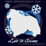 Snow Sheltie Embroidered Shirts