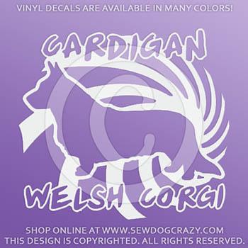Cool Cardigan Welsh Corgi Decals