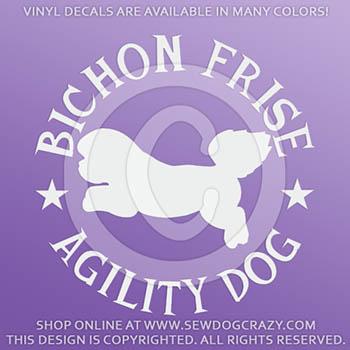 Bichon Agility Decals