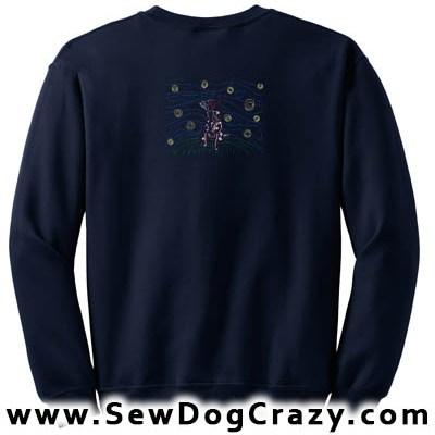 Embroidered Red Heeler Sweatshirt Art