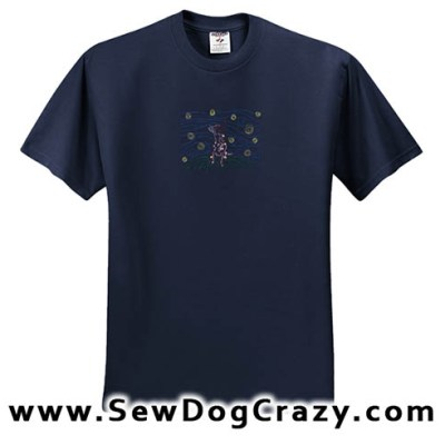 Embroidered Red Heeler Tshirt Art