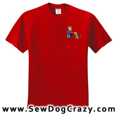 Embroidered Beagle Therapy Dog TShirts