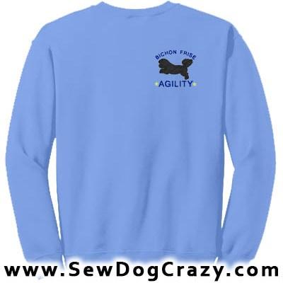 Embroidered Bichon Frise Agility Sweatshirt