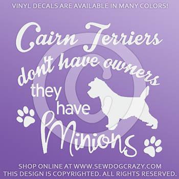 Funny Cairn Terrier Decals