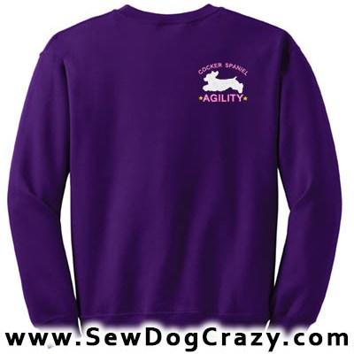 American Cocker Spaniel Agility Sweatshirt