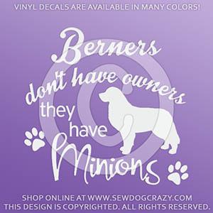 Funny Bernese Mountain Dog Vinyl Stickers
