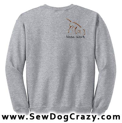 Embroidered Scent Work Sweatshirt